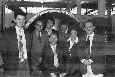 L'équipe MECANERGIE : sept patrons de PME de Roanne