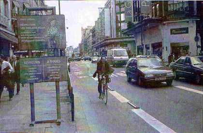 Respectons les couloirs vélos
