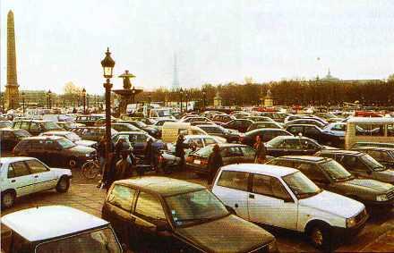 Embouteillage Place de la Concorde