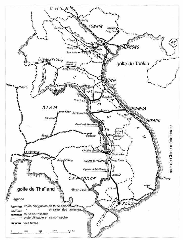 Les voies de communication en Indochine