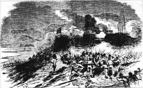 Prise de Tourane (Ðà-nang) par les Français en 1858.
