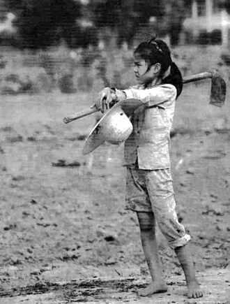 Petite paysanne de Nam Hà au Viêt-nam