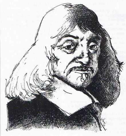 Descartes. Illustration de Guillaume Dauchy.