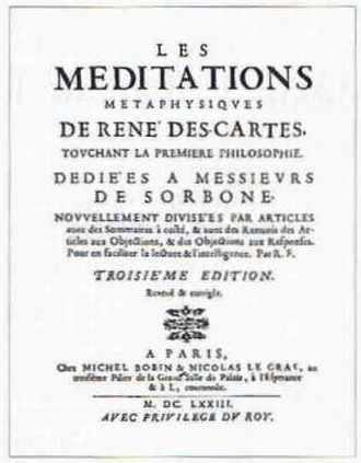 Les Méditations méraphysiques de René Descartes