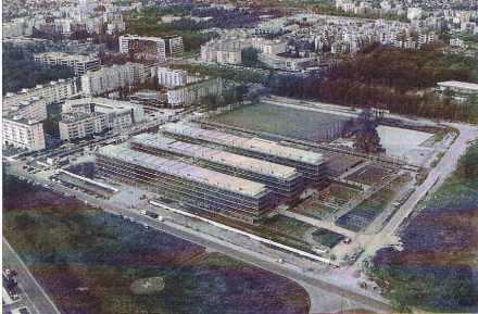 Les nouveaux locaux de l'Ecole nationale des Ponts et Chaussées, à Marnes la Vallée