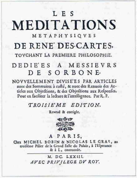 Une édition des Méditations de Descartes