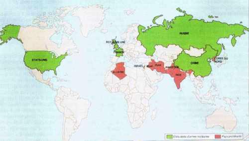Le nucléaire militaire dans le monde