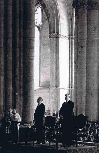 Le général de Gaulle et KonradAdenauer