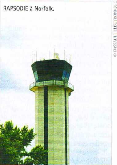 Radar de surveillance des mouvements d'aéroport RAPSODIE à Norfolk