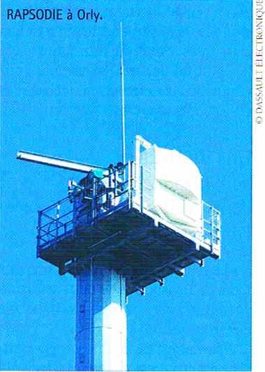 Radar de surveillance des mouvements d'aéroport RAPSODIE à Orly
