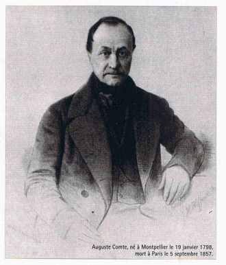 Portrait d'auguste Comte