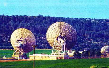 Station satellite en Israël