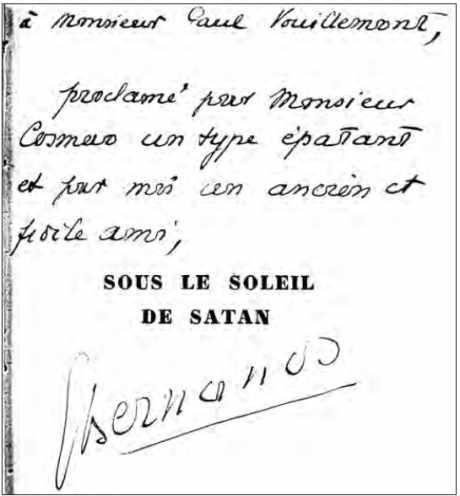 Expertise de l'écriture de G. Bernanos