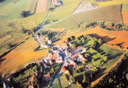Sarlande, le bourg.