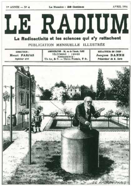 """Une mesure de """"l'émanation"""" en 1904.(Journal Le Radium)"""