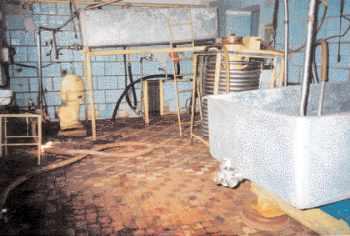 Les équipements de la laiterie avant les investissements