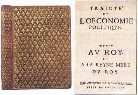 Premier ouvrage mentionnant le terme : économie politique (1615)