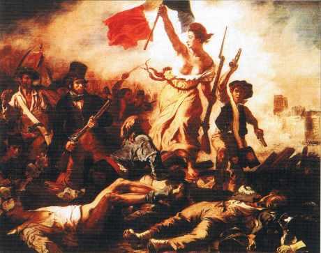 La Liberté guidant le peuple. Tableau de Delacroix