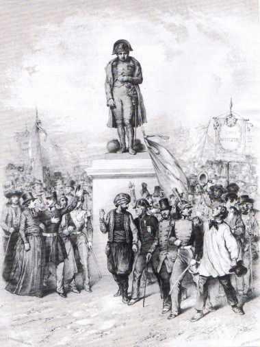 Lithographie figurant le plébiscite du prince Louis Napoléon.