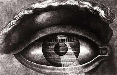 L'oeil dessiné par Claude Nicolas Ledoux pour les plans du théâtre de Besançon.