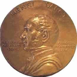 Henri Darcy. Médaillon en bronze