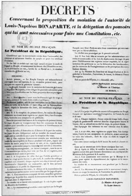 Decrets de Louis-Napoléon Bonaparte