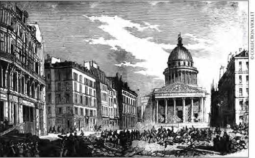 Manifestation à Paris en 1849, sévèrement réprimée