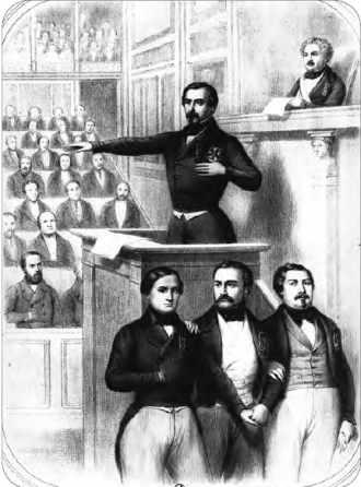 Louis Napoléon Bonaparte proclamé président de la République prête serment à la Constitution.