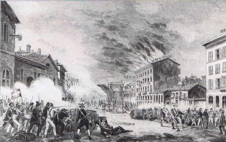 Combats de rues à Milan en 1848