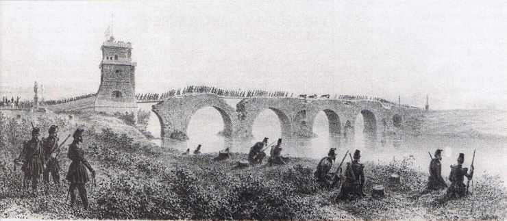 Prise du Pont Milvius lors du siège de Rome en juin 1849.
