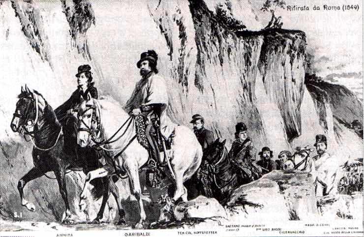 À la tête de 10 000 hommes, Garibaldi tient en échec devant Rome le corps expéditionnaire français