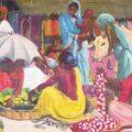Scène de marché à Calcutta