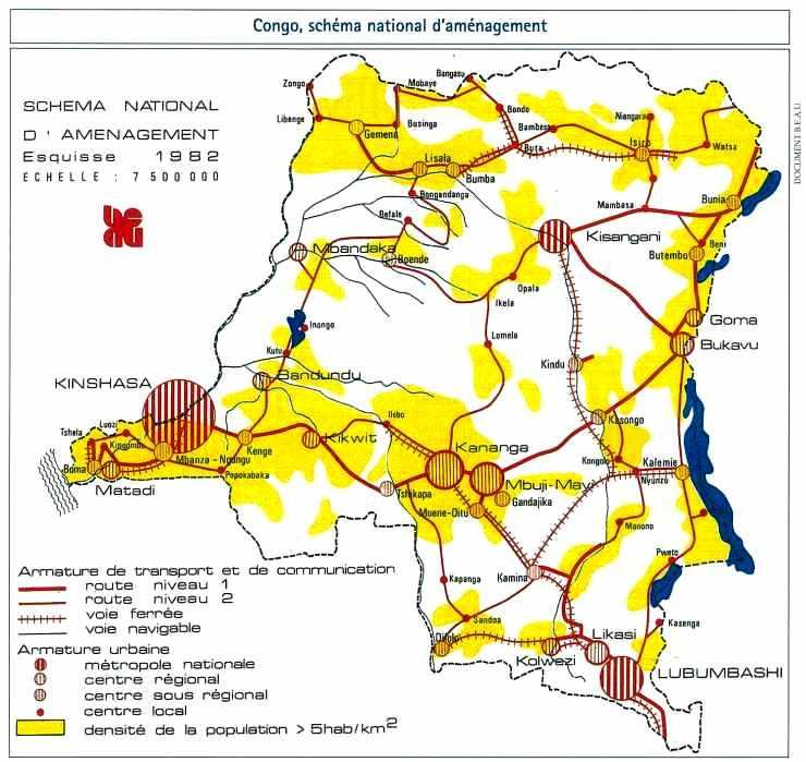 Le Congo, schéma national d'aménagement