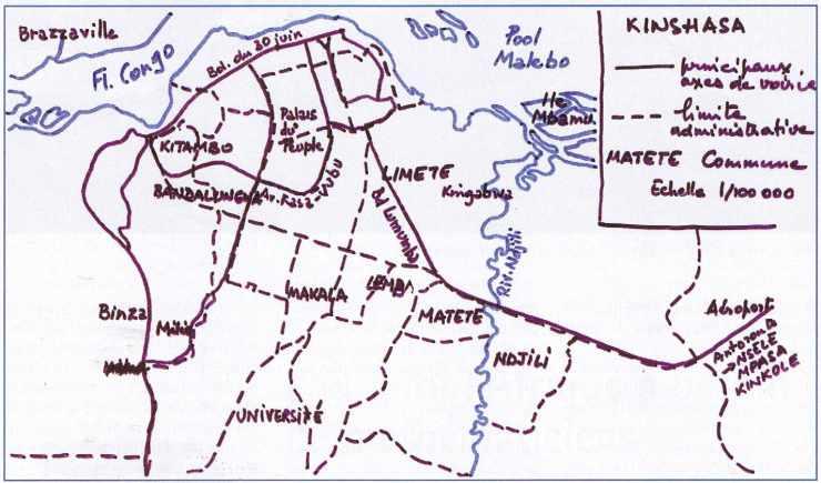 Carte-Croquis de KINSHASA