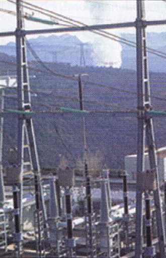 Poste 380 kV de Coulange dans l'Ardèche