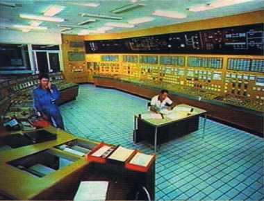 Centre nucléaire du Bugey : la salle de contrôle avant Three Mile Island.