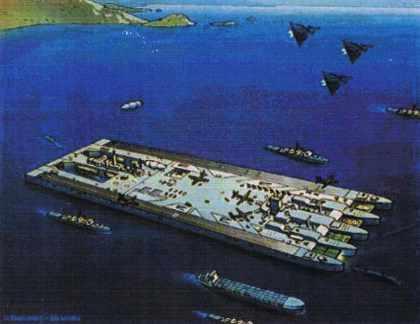 Une île flottante comme base de départ des opérations