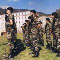 La formation militaire initiale des X à Barcelonette.