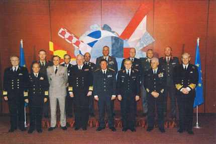 Le Comité militaire de l'Union européenne, Bruxelles, mars 2001.