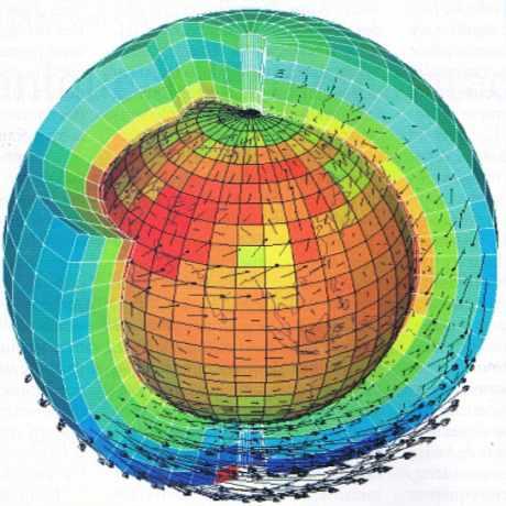 Laboratoire de météorologie dynamique de l'Ecole polytechnique : température et vents simulés.