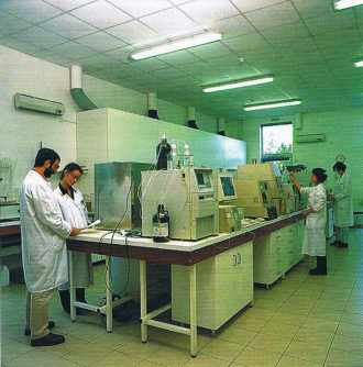 Un laboratoire d'Eurofins.