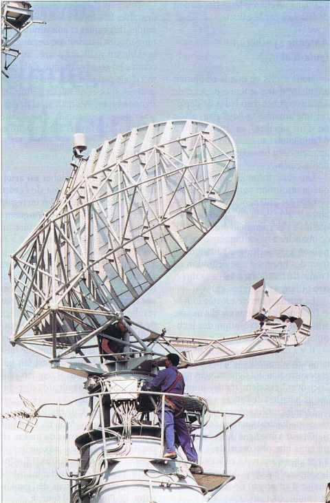 Une antenne de radar