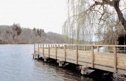 Passerelle en bois à Nantes, Architecte : SEVE de Nantes.