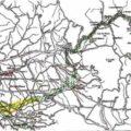 Réseau des acqueducs de Rome au premier siècle après JC