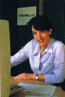 Anne-Sophie Pastel (88) cofondatrice d'auFeminin.com avec Marc-Antoine Dubanton (88), .