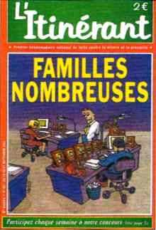 Couverture du journal L'tinérant : Familles nombreuses