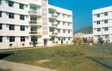 Habitations pour le construction de la centrale nucléaire de Daya Bay