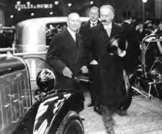 André Citroën et le Président Albert Lebrun.