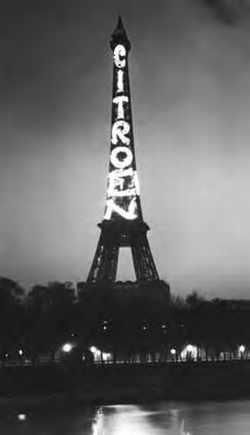Illumination Citroën de la Tour Eiffel