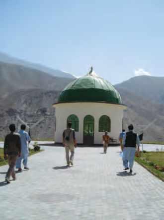 Le mausolée du Commandant Massoud à Bazarak, vallée du Panjshir.